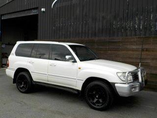 2006 Toyota Landcruiser UZJ100R Sahara White 5 Speed Automatic Wagon.