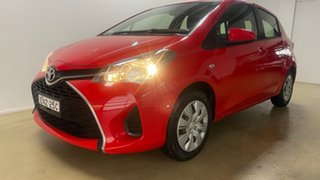 2016 Toyota Yaris NCP130R MY15 Ascent Red 4 Speed Automatic Hatchback