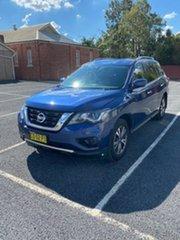 2018 Nissan Pathfinder R52 SERIES II M ST X-tronic 2WD Blue Automatic.