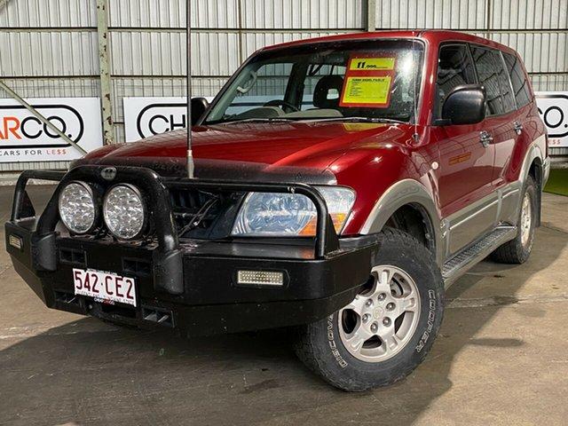 Used Mitsubishi Pajero NP MY03 GLS Rocklea, 2003 Mitsubishi Pajero NP MY03 GLS Maroon 5 Speed Sports Automatic Wagon