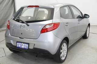 2014 Mazda 2 DE10Y2 MY14 Neo Sport Silver 5 Speed Manual Hatchback.