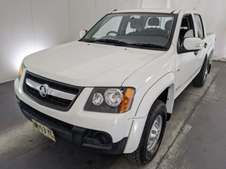 2011 Holden Colorado RC MY11 LX Crew Cab 4x2 White 4 Speed Automatic Utility.
