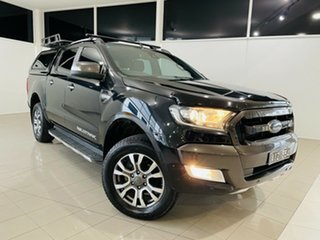 2016 Ford Ranger PX MkII Wildtrak Double Cab Black 6 Speed Sports Automatic Utility.