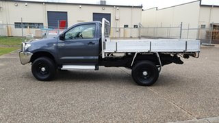2011 Toyota Hilux KUN26R MY11 Upgrade SR (4x4) Grey 5 Speed Manual Cab Chassis