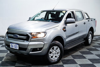 2016 Ford Ranger PX MkII MY17 XLS 3.2 (4x4) Silver 6 Speed Automatic Dual Cab Utility.
