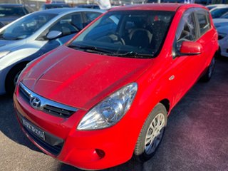 2011 Hyundai i20 PB MY11 Active Electric Red 4 Speed Automatic Hatchback.
