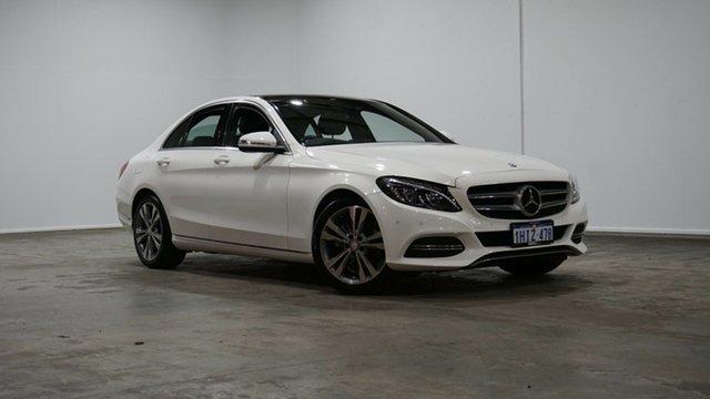 Used Mercedes-Benz C-Class W205 806MY C200 7G-Tronic + Welshpool, 2015 Mercedes-Benz C-Class W205 806MY C200 7G-Tronic + White 7 Speed Sports Automatic Sedan