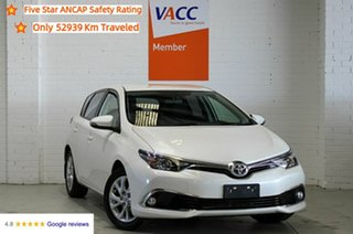 2016 Toyota Corolla ZRE182R Ascent Sport S-CVT White 7 Speed Constant Variable Hatchback.