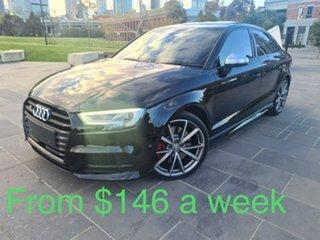 2017 Audi S3 8V MY18 S Tronic Quattro Black 7 Speed Sports Automatic Dual Clutch Sedan.