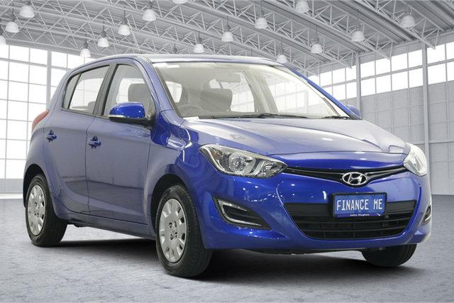 Used Hyundai i20 PB MY14 Active Victoria Park, 2014 Hyundai i20 PB MY14 Active Blue 6 Speed Manual Hatchback