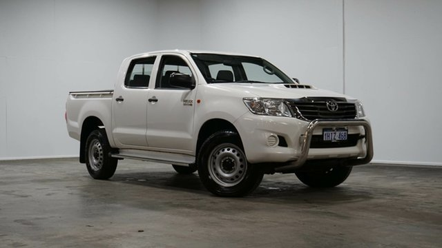 Used Toyota Hilux KUN26R MY14 SR Double Cab Welshpool, 2014 Toyota Hilux KUN26R MY14 SR Double Cab White 5 Speed Automatic Utility