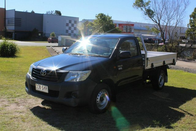 Used Toyota Hilux TGN16R MY12 Workmate 4x2 Ormeau, 2012 Toyota Hilux TGN16R MY12 Workmate 4x2 Grey 5 Speed Manual Cab Chassis