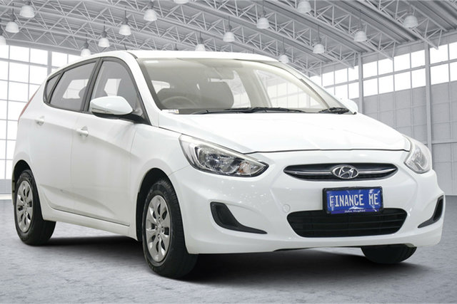 Used Hyundai Accent RB4 MY16 Active Victoria Park, 2016 Hyundai Accent RB4 MY16 Active Crystal White 6 Speed Constant Variable Hatchback