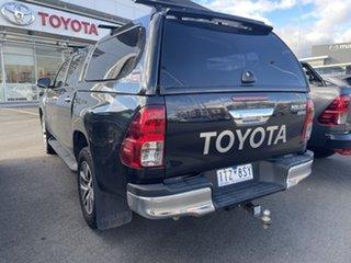 2015 Toyota Hilux GUN126R SR5 Double Cab Black 6 Speed Sports Automatic Utility.