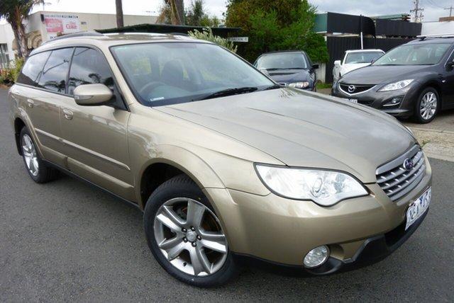 Used Subaru Outback B4A MY08 AWD Cheltenham, 2008 Subaru Outback B4A MY08 AWD Gold 4 Speed Sports Automatic Wagon