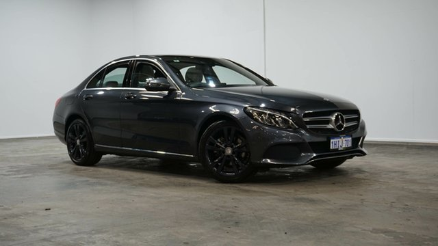 Used Mercedes-Benz C-Class W205 806+056MY C200 7G-Tronic + Welshpool, 2016 Mercedes-Benz C-Class W205 806+056MY C200 7G-Tronic + Tenorite Grey 7 Speed Sports Automatic