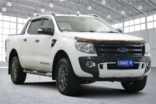 Used Ford Ranger PX Wildtrak Double Cab Victoria Park, 2015 Ford Ranger PX Wildtrak Double Cab White 6 Speed Sports Automatic Utility