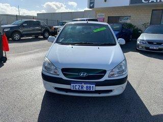 2008 Hyundai Getz TB Upgrade SX White 4 Speed Automatic Hatchback.