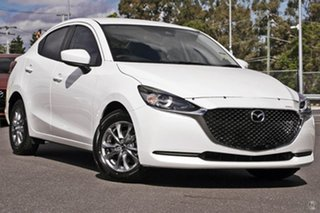 2021 Mazda 2 DL2SAA G15 SKYACTIV-Drive Pure White 6 Speed Sports Automatic Sedan.