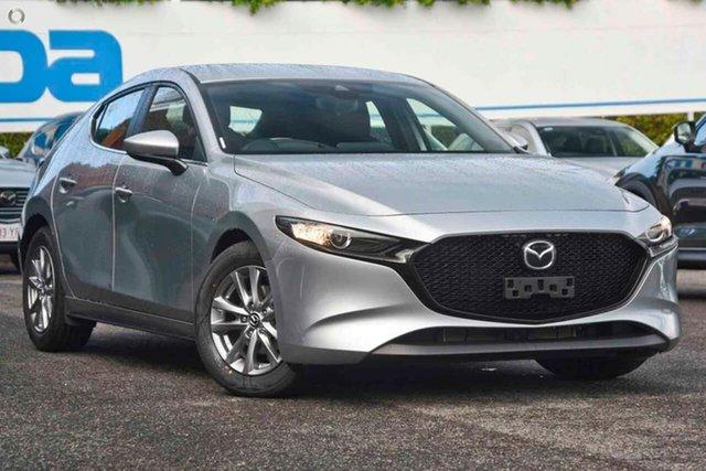 New Mazda 3 BP2H7A G20 SKYACTIV-Drive Pure Waitara, 2021 Mazda 3 BP2H7A G20 SKYACTIV-Drive Pure Silver 6 Speed Sports Automatic Hatchback