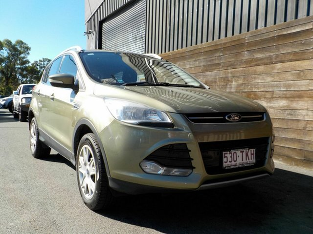 Used Ford Kuga TF Ambiente AWD Labrador, 2013 Ford Kuga TF Ambiente AWD Green 6 Speed Sports Automatic Wagon