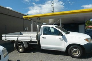 2006 Toyota Hilux TGN16R MY07 Workmate 4x2 White 5 Speed Manual Cab Chassis