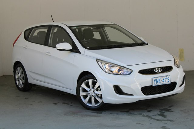 Used Hyundai Accent RB6 MY19 Sport Phillip, 2018 Hyundai Accent RB6 MY19 Sport Chalk White 6 Speed Sports Automatic Hatchback
