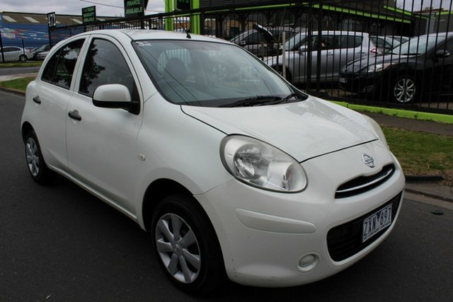 Used Nissan Micra K13 MY13 ST West Footscray, 2013 Nissan Micra K13 MY13 ST White 4 Speed Automatic Hatchback