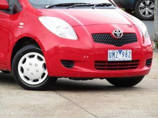 2006 Toyota Yaris NCP90R YR Ablaze Red 5 Speed Manual Hatchback.