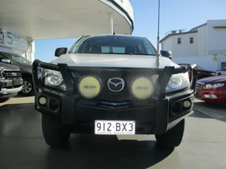 2016 Mazda BT-50 MY16 XT (4x4) White 6 Speed Manual Dual Cab Chassis