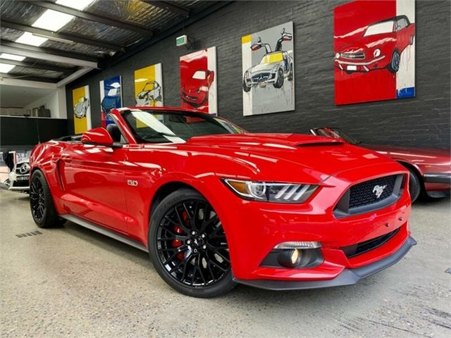 Used Ford Mustang FM GT Glebe, 2016 Ford Mustang FM GT Red Sports Automatic Convertible