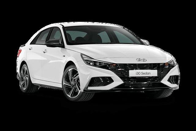 New Hyundai i30 Hamilton, 2021 Hyundai i30 CN7.V1 N-Line Special Edition Polar White 7 Speed Automatic Sedan
