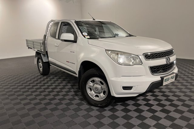 Used Holden Colorado RG MY14 LX Space Cab Acacia Ridge, 2014 Holden Colorado RG MY14 LX Space Cab White 6 speed Automatic Cab Chassis