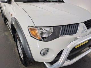 2007 Mitsubishi Triton ML MY08 GLX-R Double Cab White 5 Speed Manual Utility.