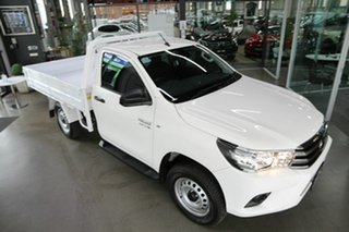 2021 Toyota Hilux GUN126R SR White 6 Speed Sports Automatic Cab Chassis