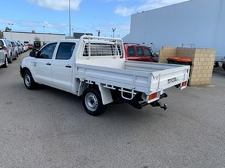 2011 Toyota Hilux TGN16R MY12 Workmate White 5 Speed Manual Dual Cab Pick-up