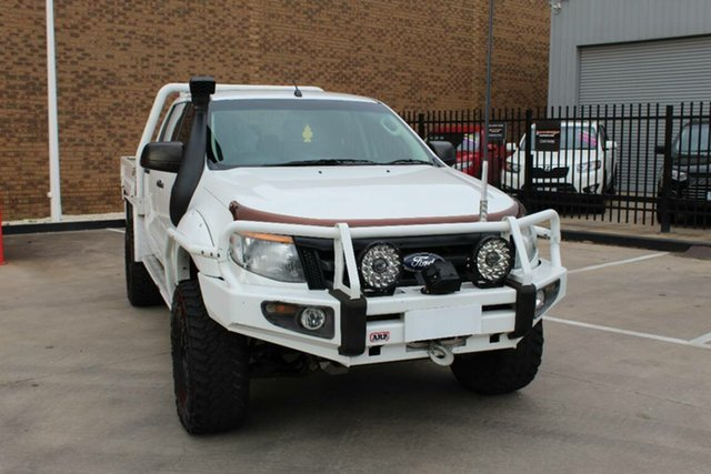 Used Ford Ranger PX XL 3.2 (4x4) Hoppers Crossing, 2014 Ford Ranger PX XL 3.2 (4x4) White 6 Speed Automatic Dual Cab Chassis