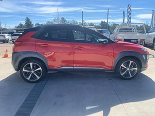 2018 Hyundai Kona OS.2 MY19 Highlander (AWD) Orange 7 Speed Auto Dual Clutch Wagon.