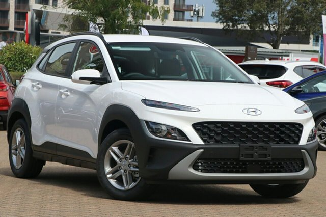 New Hyundai Kona Os.v4 MY21 2WD Berri, 2021 Hyundai Kona Os.v4 MY21 2WD Atlas White 8 Speed Constant Variable Wagon