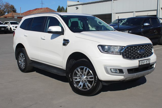 Demo Ford Everest UA II 2021.25MY Trend Rutherford, 2021 Ford Everest UA II 2021.25MY Trend Alabaster White 6 Speed Sports Automatic SUV