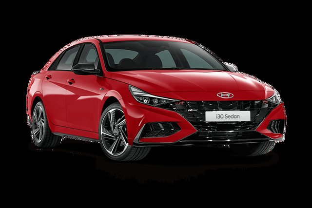 New Hyundai i30 CN7.V1 MY21 N Line D-CT Special Edition Rutherford, 2021 Hyundai i30 CN7.V1 MY21 N Line D-CT Special Edition Fiery Red 7 Speed