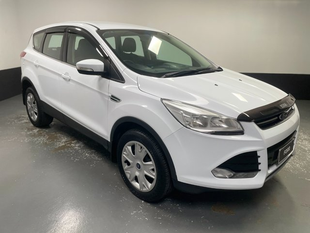 Used Ford Kuga TF Ambiente AWD Cardiff, 2013 Ford Kuga TF Ambiente AWD Frozen White 6 Speed Sports Automatic Wagon