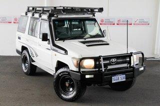 2012 Toyota Landcruiser VDJ76R 09 Upgrade Workmate (4x4) French Vanilla 5 Speed Manual Wagon.