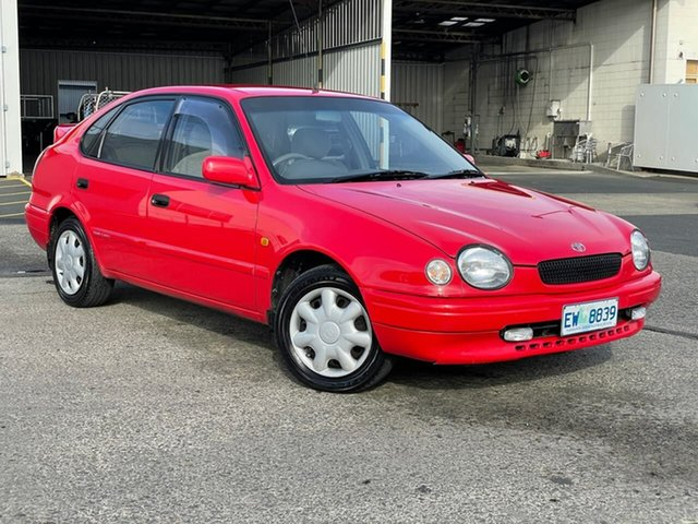 Used Toyota Corolla AE112R Conquest Moonah, 1998 Toyota Corolla AE112R Conquest Red 5 Speed Manual Liftback