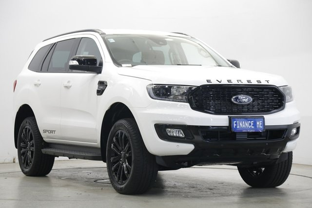 Used Ford Everest UA II 2021.25MY Sport RWD Victoria Park, 2021 Ford Everest UA II 2021.25MY Sport RWD White 10 Speed Sports Automatic SUV