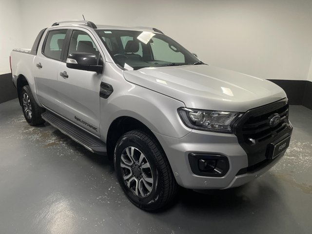 Used Ford Ranger PX MkIII 2019.00MY Wildtrak Rutherford, 2018 Ford Ranger PX MkIII 2019.00MY Wildtrak Silver 10 Speed Sports Automatic Utility