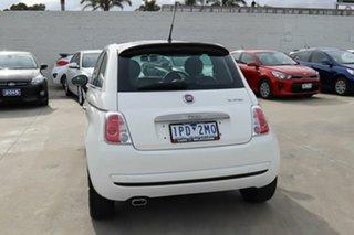 2012 Fiat 500 Series 1 Dualogic White 5 Speed Sports Automatic Single Clutch Hatchback
