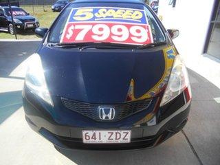 2009 Honda Jazz GE MY10 GLi Black 5 Speed Manual Hatchback.