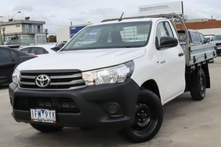 2015 Toyota Hilux TGN121R Workmate 4x2 White 6 Speed Sports Automatic Cab Chassis.
