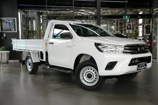 2021 Toyota Hilux GUN126R SR White 6 Speed Sports Automatic Cab Chassis.